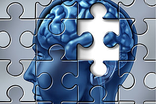 Memory loss and alzheimer's medical symbol